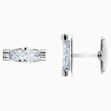 Crystaldust Manschettenknöpfe, weiss, Edelstahl - Swarovski, 5429896