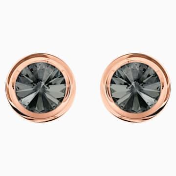 Gemelos Round, gris, Baño en tono Oro Rosa - Swarovski, 5429900