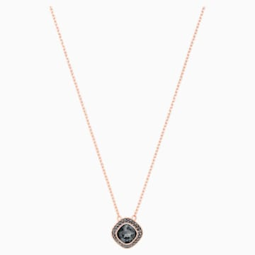 Lattitude Pendant, Gray, Rose-gold tone plated - Swarovski, 5430358