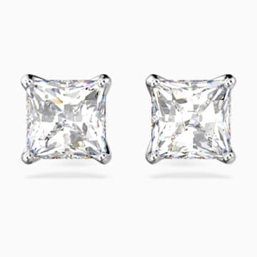 Attract 耳釘, 白色, 鍍銠 - Swarovski, 5430365