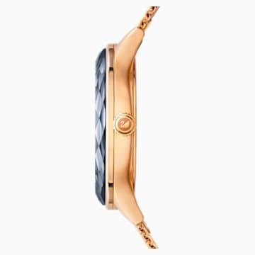 Octea Nova Saat, Milano tarzı bileklik, Siyah, Pembe altın rengi PVD - Swarovski, 5430424