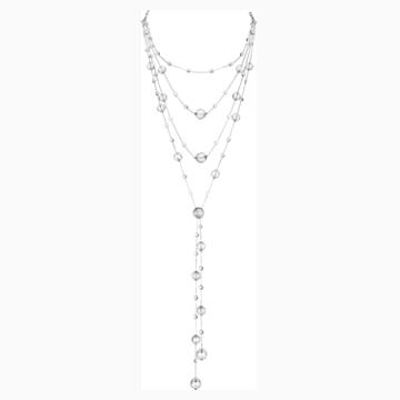Concentric Necklace, Swarovski Crystal & Swarovski Created Diamonds, 18K White Gold - Swarovski, 5430505