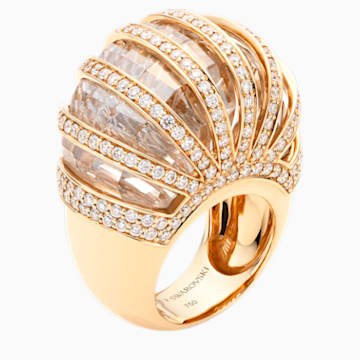 Duchesse Ring, Swarovski Created Diamonds, 18K Yellow Gold, Size 52 - Swarovski, 5430515