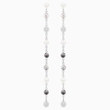 Canopy Pierced Earrings, Multi-colored, Rhodium plated - Swarovski, 5430883