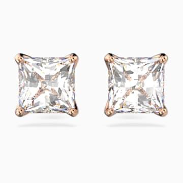 Attract bedugós fülbevaló, fehér, rozéarany árnyalatú bevonattal - Swarovski, 5431895