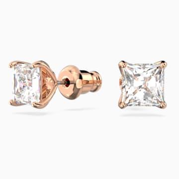 Attract Серьги, Белый Кристалл, Покрытие оттенка розового золота - Swarovski, 5431895