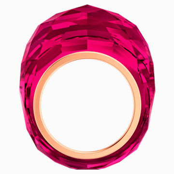 Anello Swarovski Nirvana, rosso, PVD tonalità oro rosa - Swarovski, 5432203