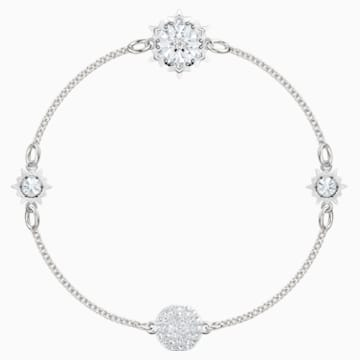 Swarovski Remix Collection Snowflake Strand, 화이트, 로듐 플래팅 - Swarovski, 5432735