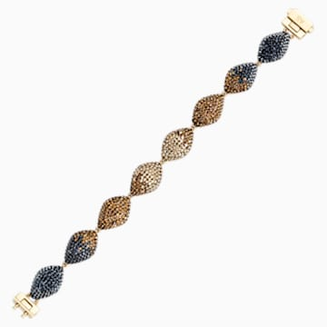 Bracelet Moselle, marron, métal doré - Swarovski, 5433121