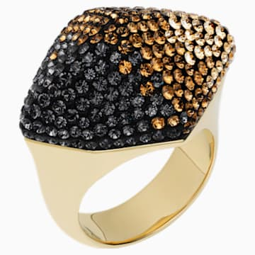 Moselle Ring, Brown, Gold-tone plated - Swarovski, 5433133