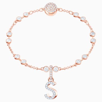 Swarovski Remix Collection Charm S, blanc, Métal doré rose - Swarovski, 5434399