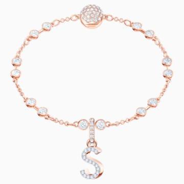Talisman S Swarovski Remix Collection, alb, placat în nuanță aur roz - Swarovski, 5434399