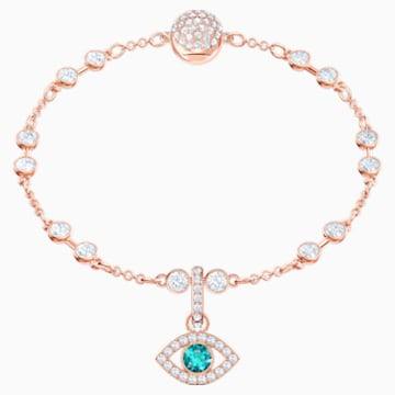 Swarovski Remix Collection Evil Eye Charm, Multi-coloured, Rose-gold tone plated - Swarovski, 5434401