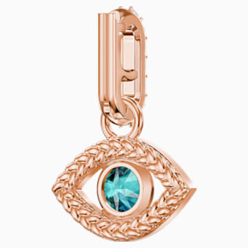 Swarovski Remix Collection Evil Eye Charm, mehrfarbig, Rosé vergoldet - Swarovski, 5434401