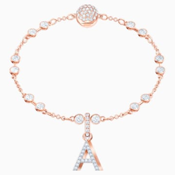 Swarovski Remix Collection Charm A, bianco, Placcato oro rosa - Swarovski, 5434405