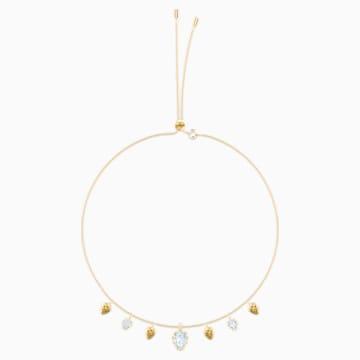 Mandarin Pinecone Choker, White, Gold-tone plated - Swarovski, 5434971
