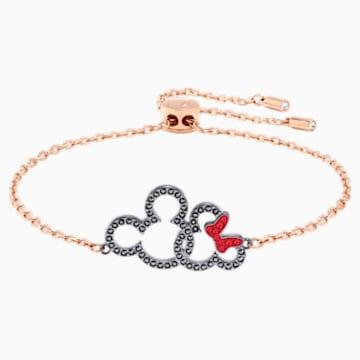 Mickey & Minnie Bracelet, Multi-colored, Mixed metal finish - Swarovski, 5435138