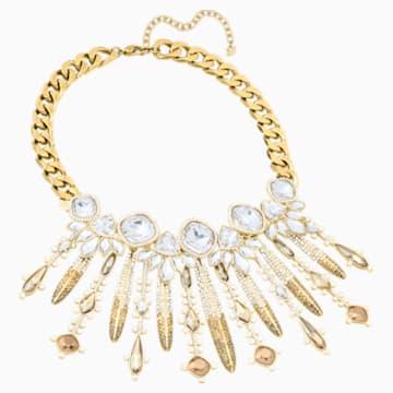 Odysseia 项链, 彩色设计, 镀金色调 - Swarovski, 5435555