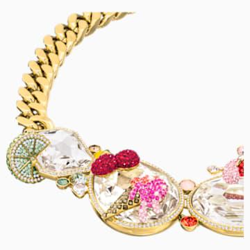 Optimum Necklace, Multi-colored, Gold-tone plated - Swarovski, 5435563