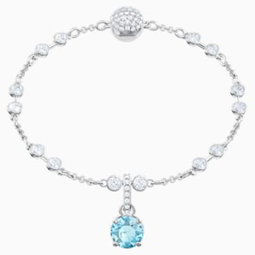 Swarovski Remix Collection Charm, March, Aqua, Rhodium plated - Swarovski, 5435642