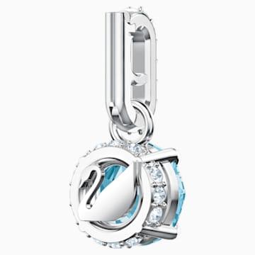 Swarovski Remix Collection Charm, 아쿠아, 로듐 플래팅 - Swarovski, 5435642
