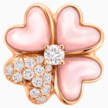确幸满溢18K玫瑰金粉红贝壳钻石链坠 - Swarovski, 5436211