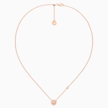 百搭新锐18K玫瑰金钻石项链 - Swarovski, 5436236