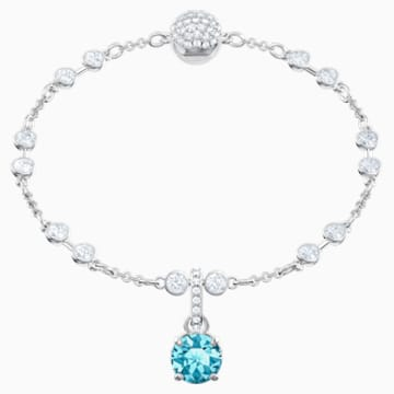 Swarovski Remix-collectie bedel, December, Blauw, Rodium-verguld - Swarovski, 5437316