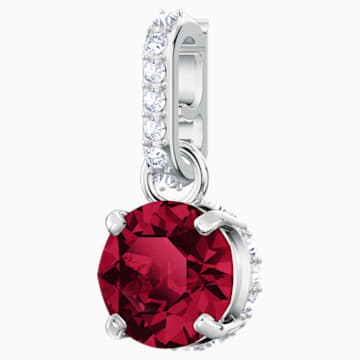 Swarovski Remix Collection Charm, julio, rojo oscuro, Baño de Rodio - Swarovski, 5437318