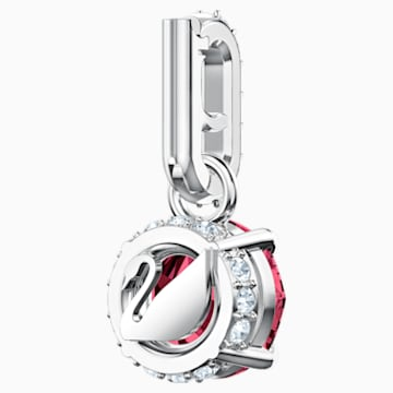 Swarovski Remix Collection Charm, 7월, 다크 레드, 로듐 플래팅 - Swarovski, 5437318