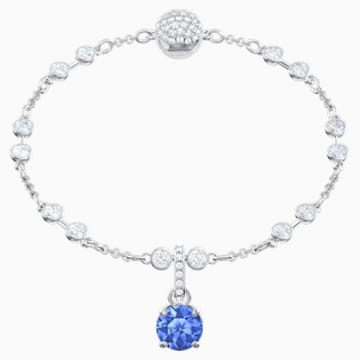 Swarovski Remix Collection Charm, 九月, 深藍色, 鍍白金色 - Swarovski, 5437319
