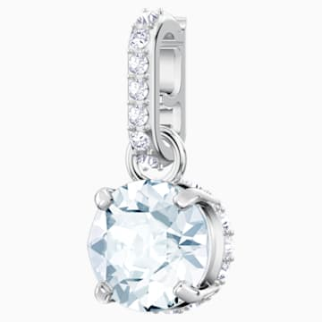 Swarovski Remix Collection Charm, abril, blanco, Baño de Rodio - Swarovski, 5437320