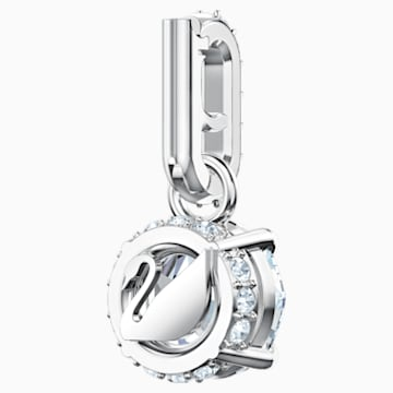 Swarovski Remix Collection Charm, aprile, bianco, Placcatura rodio - Swarovski, 5437320