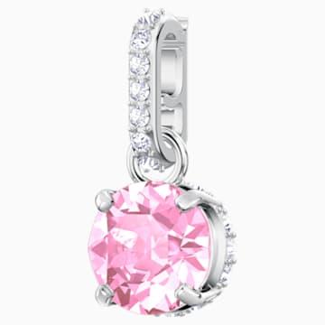 Swarovski Remix Collection Charm, 十月, 粉紅色, 鍍白金色 - Swarovski, 5437322