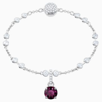 Swarovski Remix Collection Charm, 二月, 紫色, 镀铑 - Swarovski, 5437323