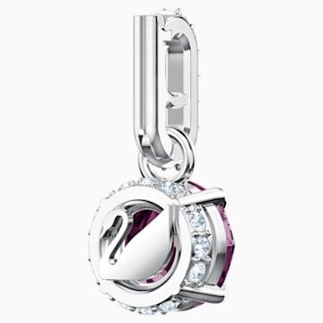 Swarovski Remix Collection Charm, 2월, 퍼플, 로듐 플래팅 - Swarovski, 5437323