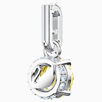 Swarovski Remix Collection Charm, 11월, 옐로우, 로듐 플래팅 - Swarovski, 5437326