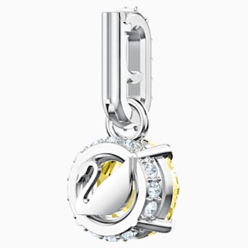 Swarovski Remix Collection Charm, noviembre, amarillo, Baño de Rodio - Swarovski, 5437326