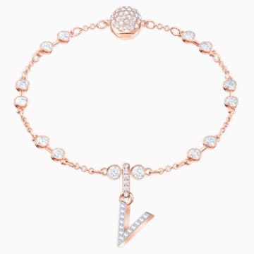 Swarovski Remix Collection Charm V, weiss, Rosé vergoldet - Swarovski, 5437610