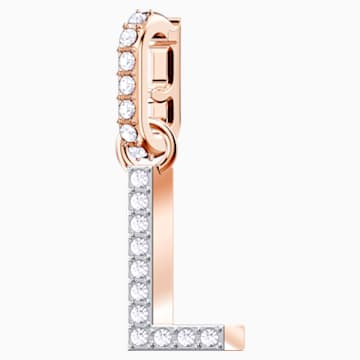 Swarovski Remix Collection Charm L, bianco, Placcato oro rosa - Swarovski, 5437618
