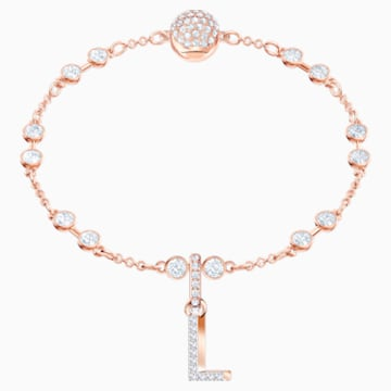 Swarovski Remix Collection Charm L, blanco, Baño en tono Oro Rosa - Swarovski, 5437618