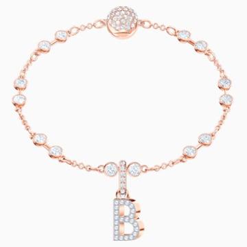 Talisman B Swarovski Remix Collection, alb, placat în nuanță de aur roz - Swarovski, 5437624