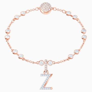 Φυλαχτό Z από τη Swarovski Remix Collection, λευκό, επιχρυσωμένο με ροζ χρυσό - Swarovski, 5437627