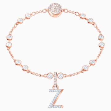 Swarovski Remix Collection Charm Z, blanco, Baño en tono Oro Rosa - Swarovski, 5437627