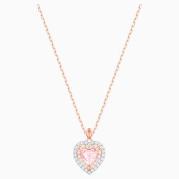 One 链坠, 彩色设计, 镀玫瑰金色调 - Swarovski, 5439314