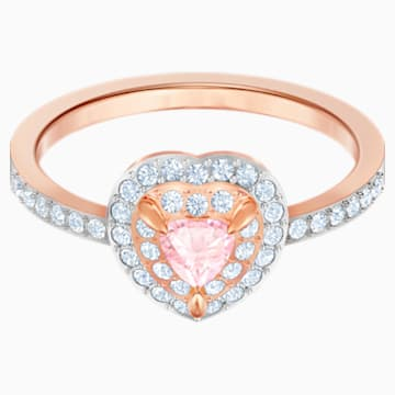 Pierścionek One, wielokolorowy, w odcieniu różowego złota - Swarovski, 5439315