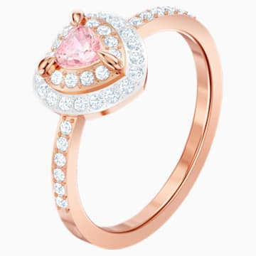 One Ring, Multi-colored, Rose-gold tone plated - Swarovski, 5439315