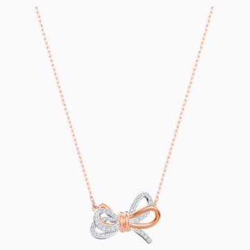 Lifelong Bow 链坠, 白色, 多种金属润饰 - Swarovski, 5440636