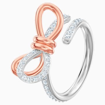 Lifelong Bow-ring, Wit, Gemengde metaalafwerking - Swarovski, 5440641