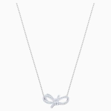 Lifelong Bow Halskette, weiss, Rhodiniert - Swarovski, 5440643
